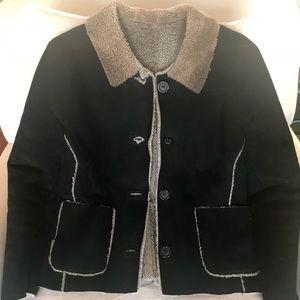 Jackets & Blazers - Sheepskin black jacket size small
